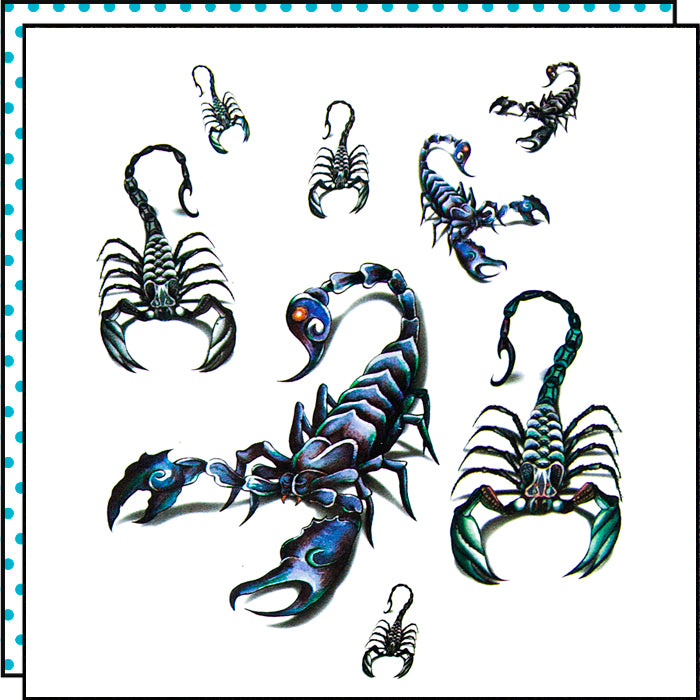 tattoonie temporary tattoos scorpion