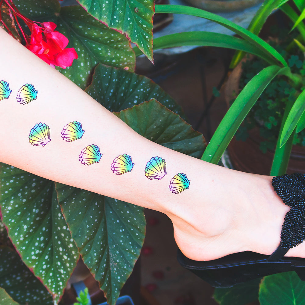 tattoonie temporary tattoos conchas sea