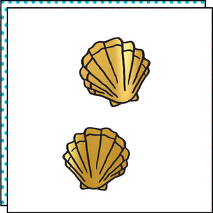 GOLD SHELLS (Set of 2)