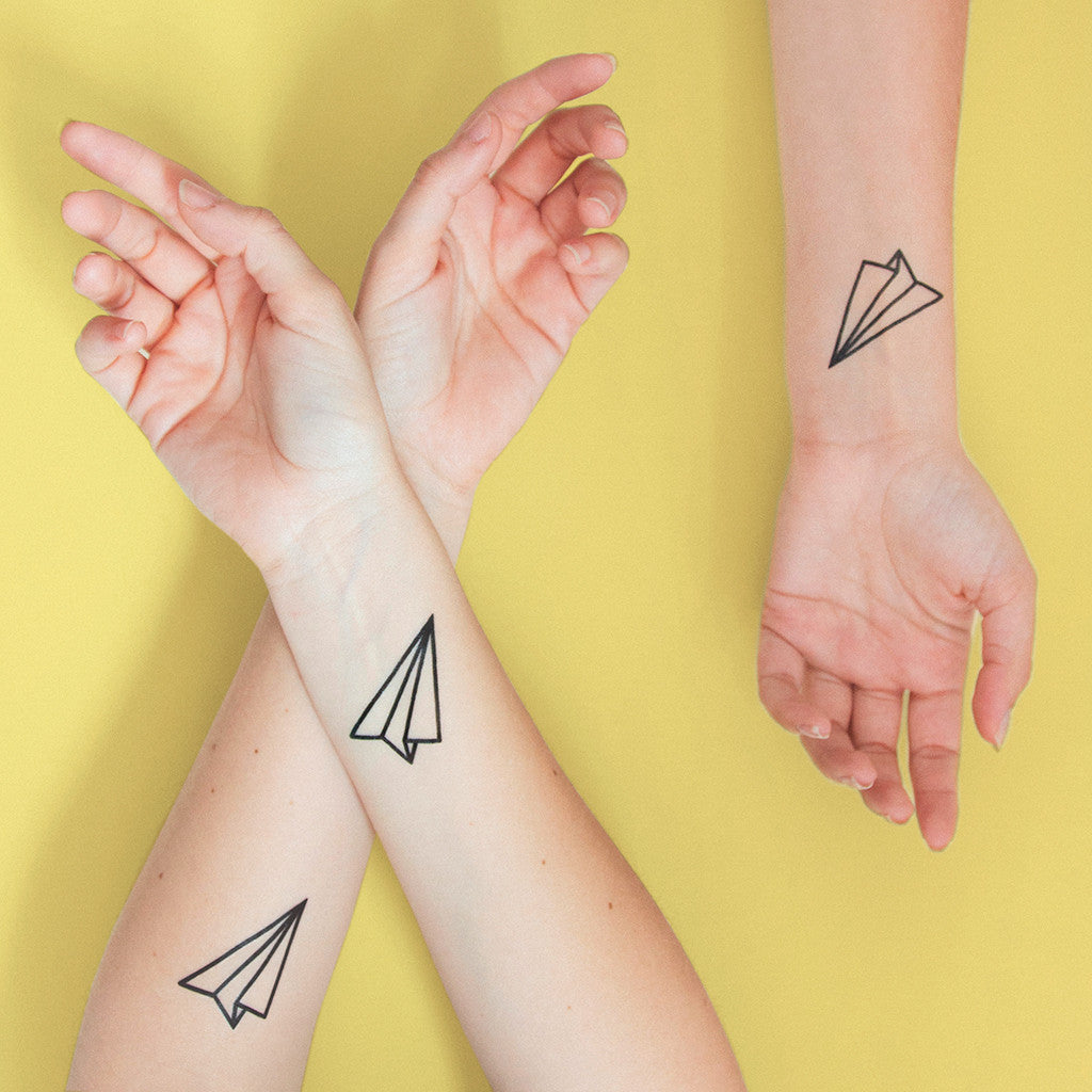 Tattoonie Temporary Tattoos the paper plane