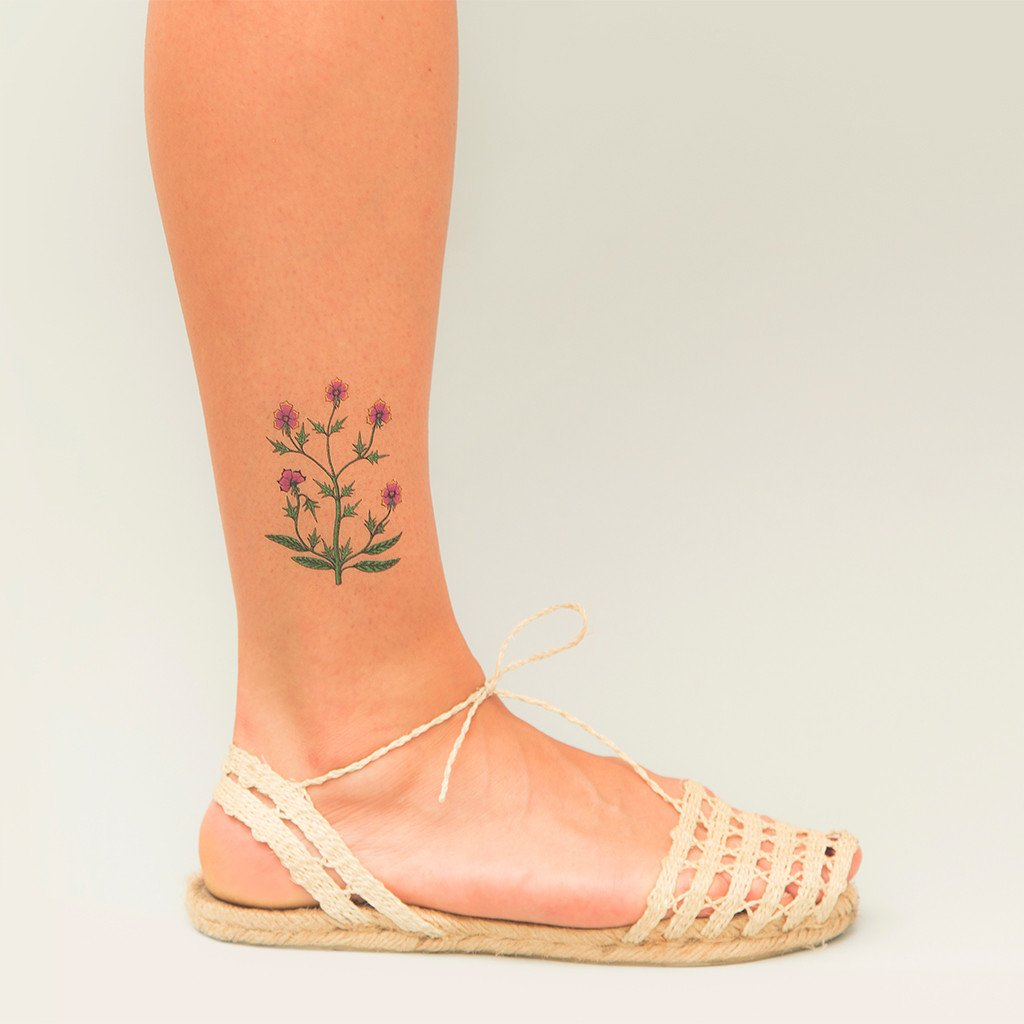 floral pack tattoonie temporary tattoos flowers plants