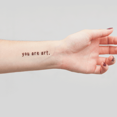 YOU ARE ART (set of 2)
