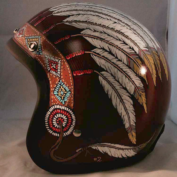 Flat Red Indian Headdress