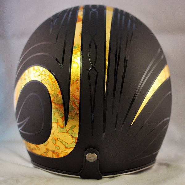 Flat Black Gold Leaf