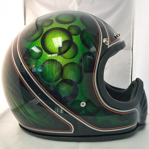 Copy of Bell Moto 3 - Candy Green Bubbles