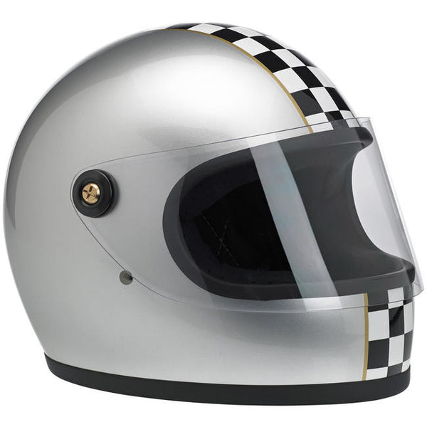 LE Checker Metallic Silver