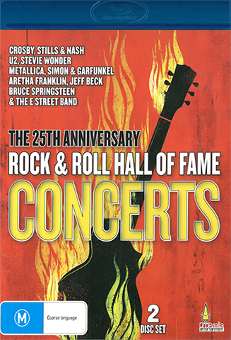 25th anniversary rock n roll hall of fame concerts blu ray live at the basement. Black Bedroom Furniture Sets. Home Design Ideas