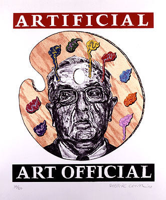 """Artificial Art Official"" Lithograph"