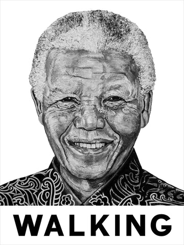 "Mandela ""WALKING"" Poster"