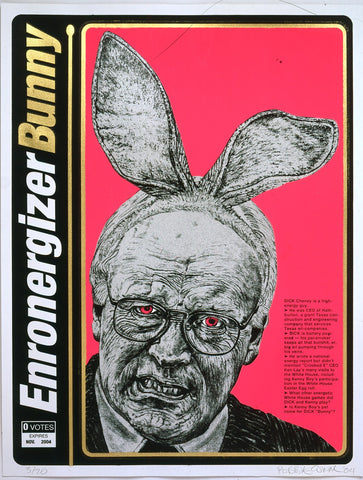 """Enronergizer Bunny"" Silk Screen"