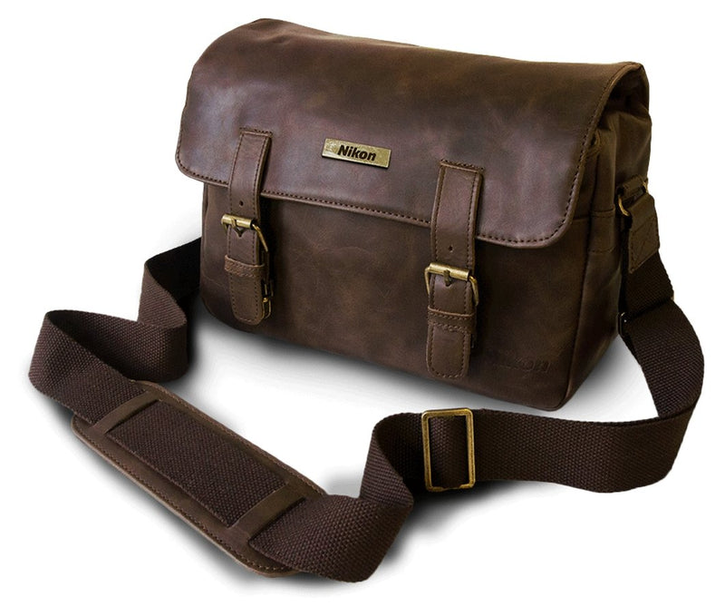 Leder-Messenger-Bag CS-P14 - Nikon Service Point Dresden--VAECSP14-18208873814-Default Title---Leder-Messenger-Bag CS-P14