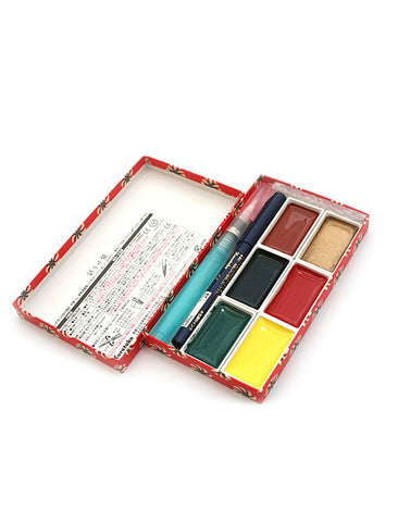 KURETAKE GAN SAI TAMBI WATERCOLOR SET