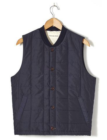 UNIVERSAL WORKS QUILTED GILET in NAVY
