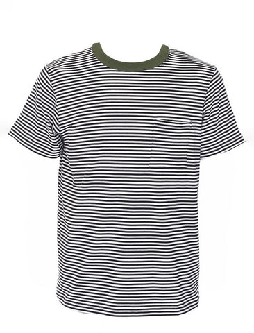 PAA SS STRIPED POCKET TEE