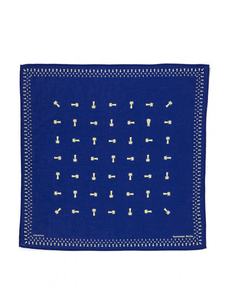 UNIVERSAL WORKS UNIVERSAL WORKS ROYAL BLUE NECKERCHIEF - M U T I N Y