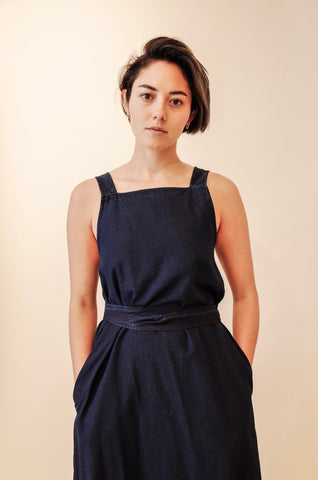YMC JULIE DARK INDIGO DRESS