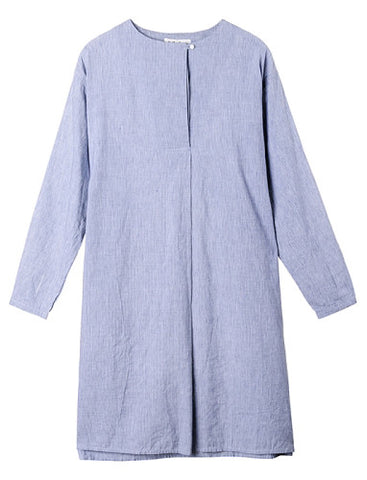 YMC BLUE NAIMA SHIRT DRESS