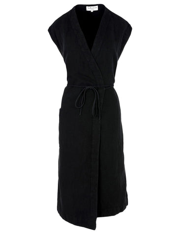 YMC YMC BLACK GEORGIA DRESS - M U T I N Y