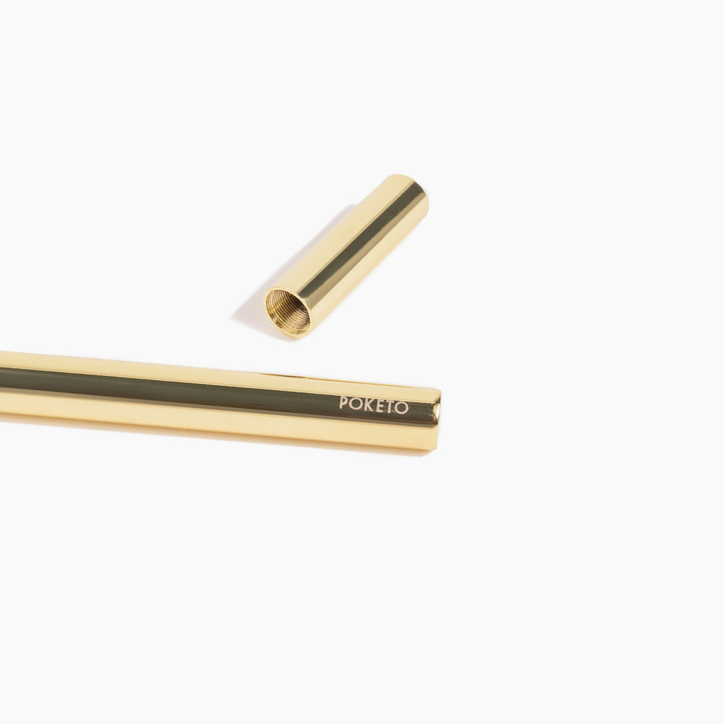POKETO CRITERION BRASS PEN