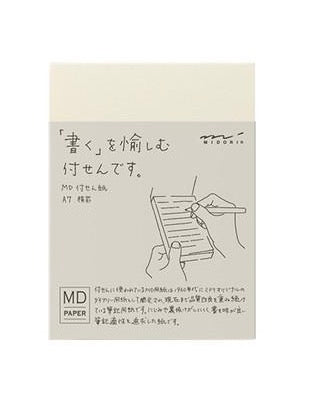 MIDORI MD PAPER A7 LINED STICKY MEMO PAD