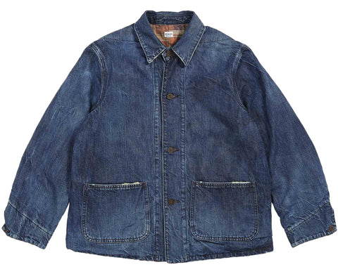 CHIMALA DENIM TWILL FLANNEL WORK JACKET