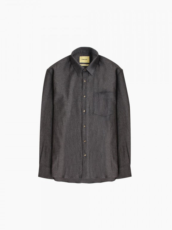 DE BONNE FACTURE DARK GREY ESSENTIAL SHIRT