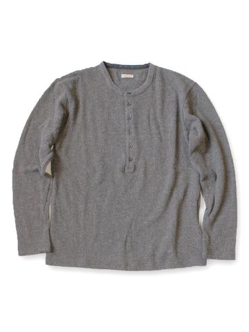 KAPITAL LIGHT GRAY LAMBS WOOL JERSEY HENLEY T