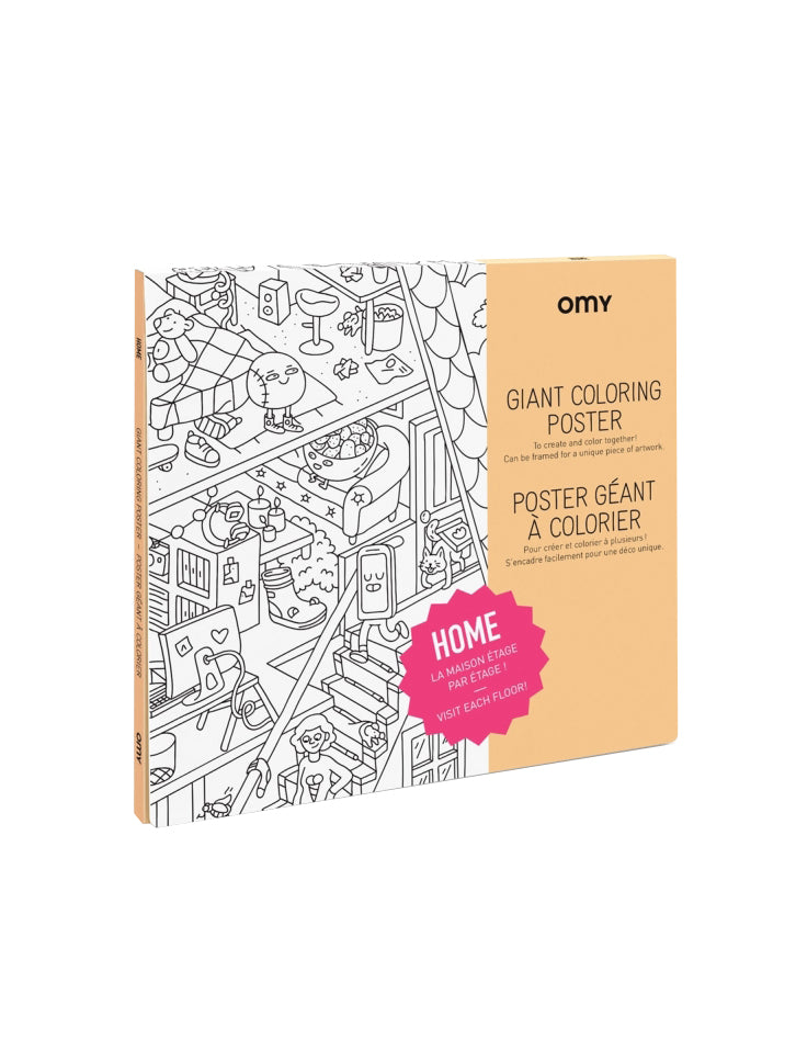 OMY GIANT COLORING POSTER HOME