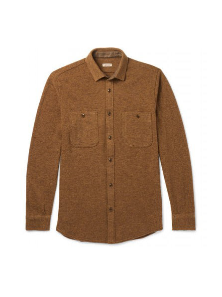 KAPITAL LAMBS WOOL JERSEY WORK SHIRT