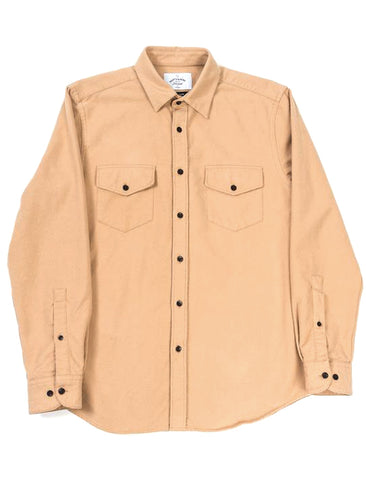 PORTUGUESE FLANNEL CAMEL CAMPO SHIRT