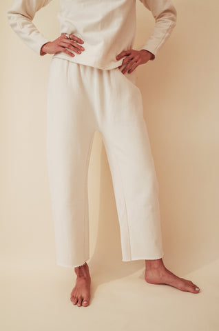 WOL HIDE NATURAL FLEECE EASY PANT