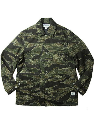 SASSAFRAS TIGER TWILL GREEN THUMB JACKET
