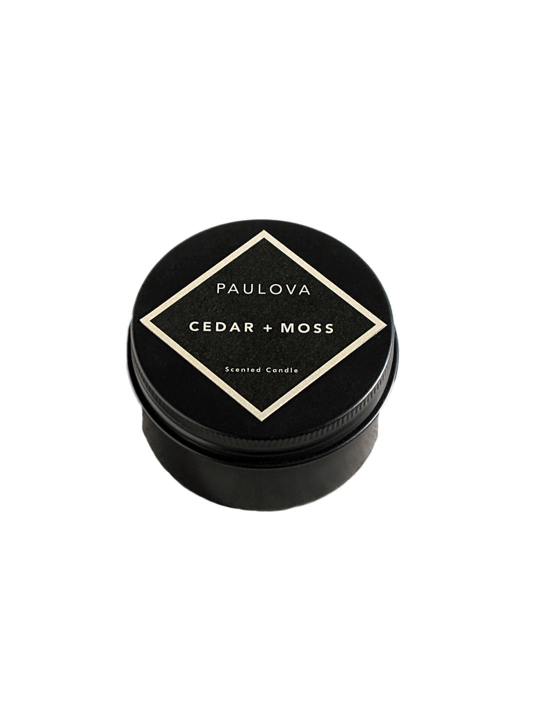 PAULOVA CEDAR + MOSS TRAVEL CANDLE