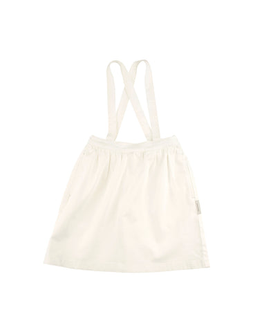 TINYCOTTONS OFF WHITE DENIM BRACES SKIRT