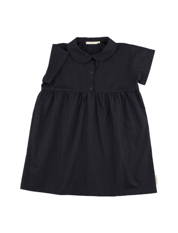 TINYCOTTONS SOLID NAVY SS DRESS