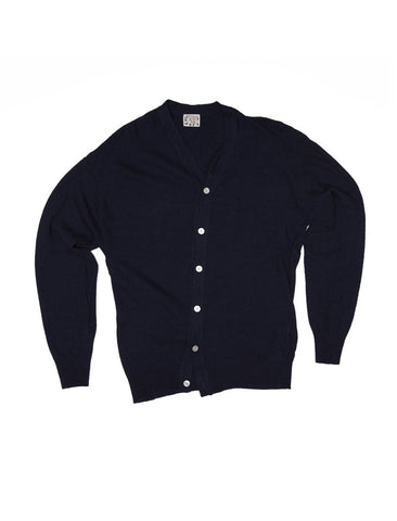 Tender TENDER CO. INDIGO COTTON CARDIGAN - M U T I N Y