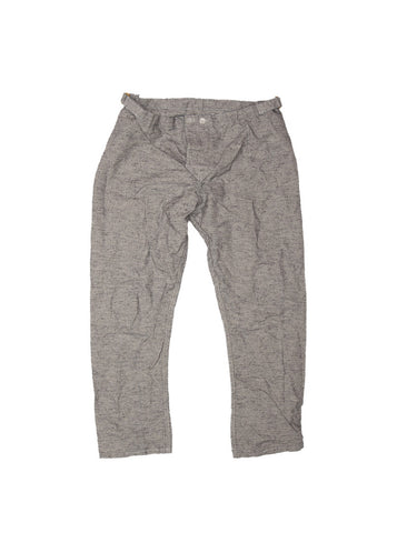 TENDER CO. INDIGO BICOLORE CANVAS FITTED PYJAMA TROUSERS
