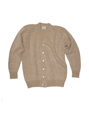 TENDER CO. NATURAL JUTE WOOL PATTERN CARDIGAN