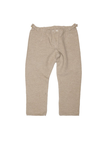 Tender TENDER CO. JUTE WEFT SAWTOOTH TWILL FITTED PYJAMA TROUSERS - M U T I N Y