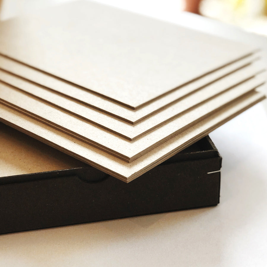 WMS & CO. EUROPEAN GREY CHIPBOARD NOTE CARDS