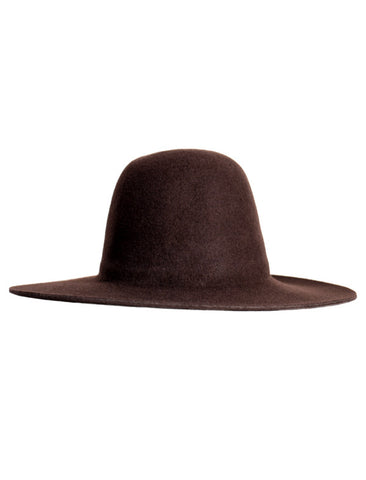 WESTERLIND WESTERLIND BROWN FELT HAT - M U T I N Y