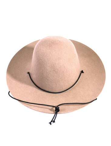 WESTERLIND CAMEL FELT HAT WITH CORD