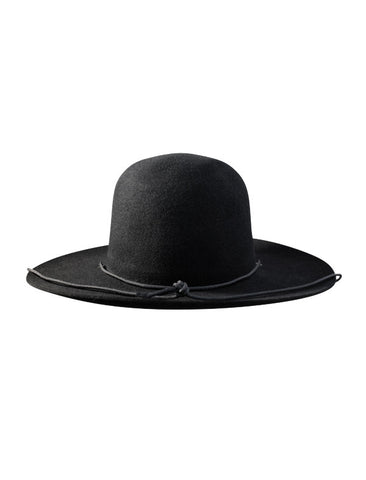WESTERLIND WESTERLIND BLACK FELT HAT WITH CORD - M U T I N Y