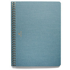 POSTALCO. LIGHT BLUE LARGE PINGRAPH NOTEBOOK