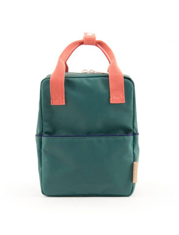 STICKY LEMON SMALL BACKPACK | GREEN / PEACHY PINK