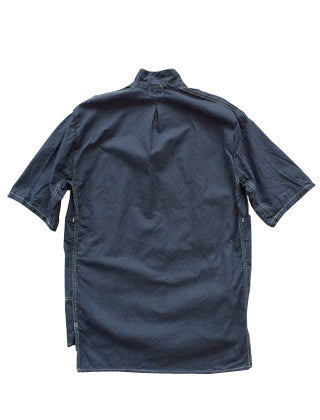 TENDER STOCK COLLAR BARGE BLUE SHORT SLEEVE