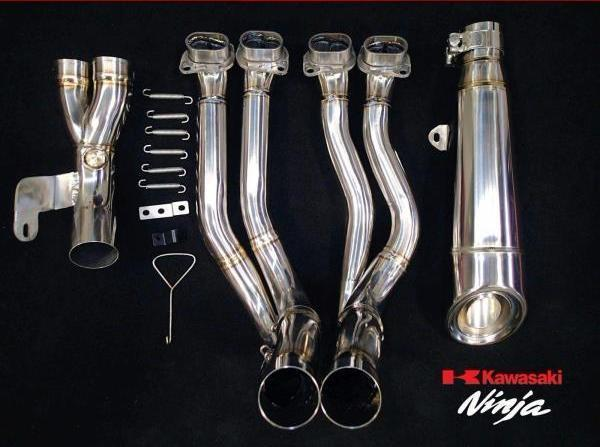 VANDEMON H2R Style POLISHED TITANIUM EXHAUST SYSTEM 2015-2020
