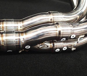VANDEMON H2R Style POLISHED TITANIUM EXHAUST SYSTEM 2015-19