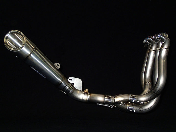 VANDEMON H2R STYLE BRUSHED TITANIUM EXHAUST SYSTEM 2015-2020