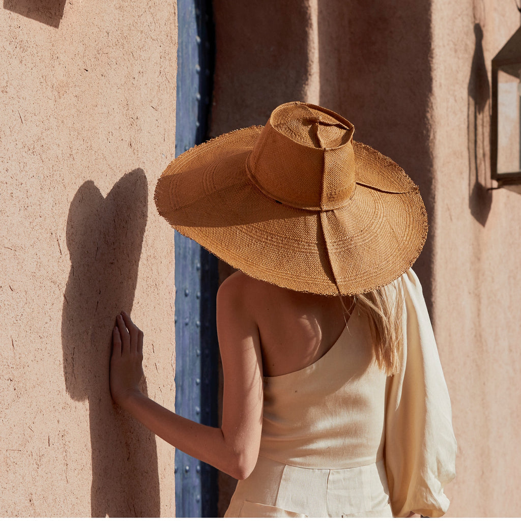 wide brimmed foldable packable travel sun hats,  handmade in Australia